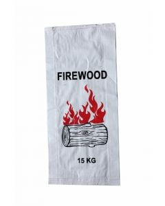 Woven Polypropylene - Printed Firewood Bags - (37 CM +10 CM) X 80 CM