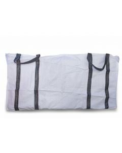 2 Cubic 400 KG - White Woven Polypropylene Skip Bag - 1.0(W) X 2.0(L) X 1(H) M