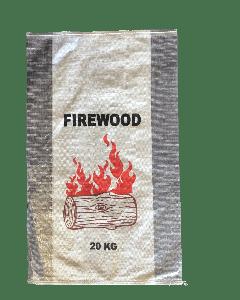 Woven Polypropylene - Printed Transparent Sides Firewood Bag 56 x 91 CM