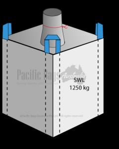 1.25 Tonne - Spout Top Closed Bottom - Bulk Bag - 100 x 100 x 180 CM