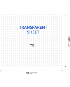 Transparent Woven Polypropylene Sheet - 113 x 135 CM - Pack of 1000
