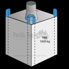 1.0 Tonne - Spout Top Closed Bottom - Bulk Bag - 90 x 90 x 90 CM