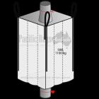 1.10 Tonne -Spout Top Spout Bottom - Baffle Bulk Bag - 105 x 105 x 200 CM