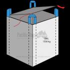 1.5 Tonne - Circular - Top Lid / Flap Closed Bottom Bulk Bag